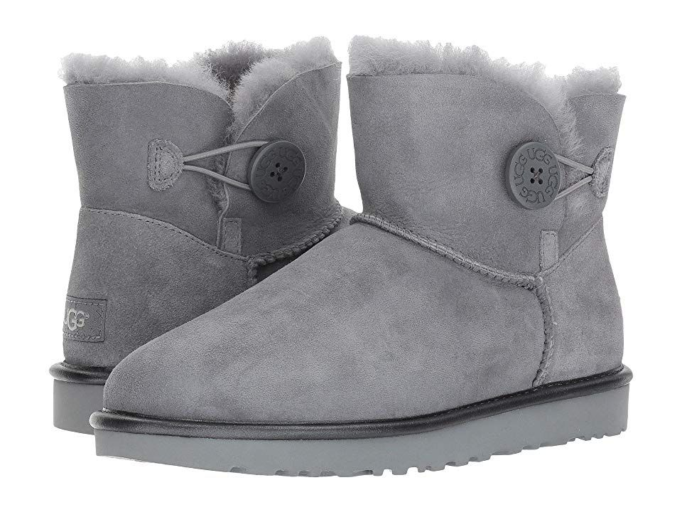 many fashionable check out website for discount UGG Mini Bailey Button II Metallic Women's Boots Geyser ...