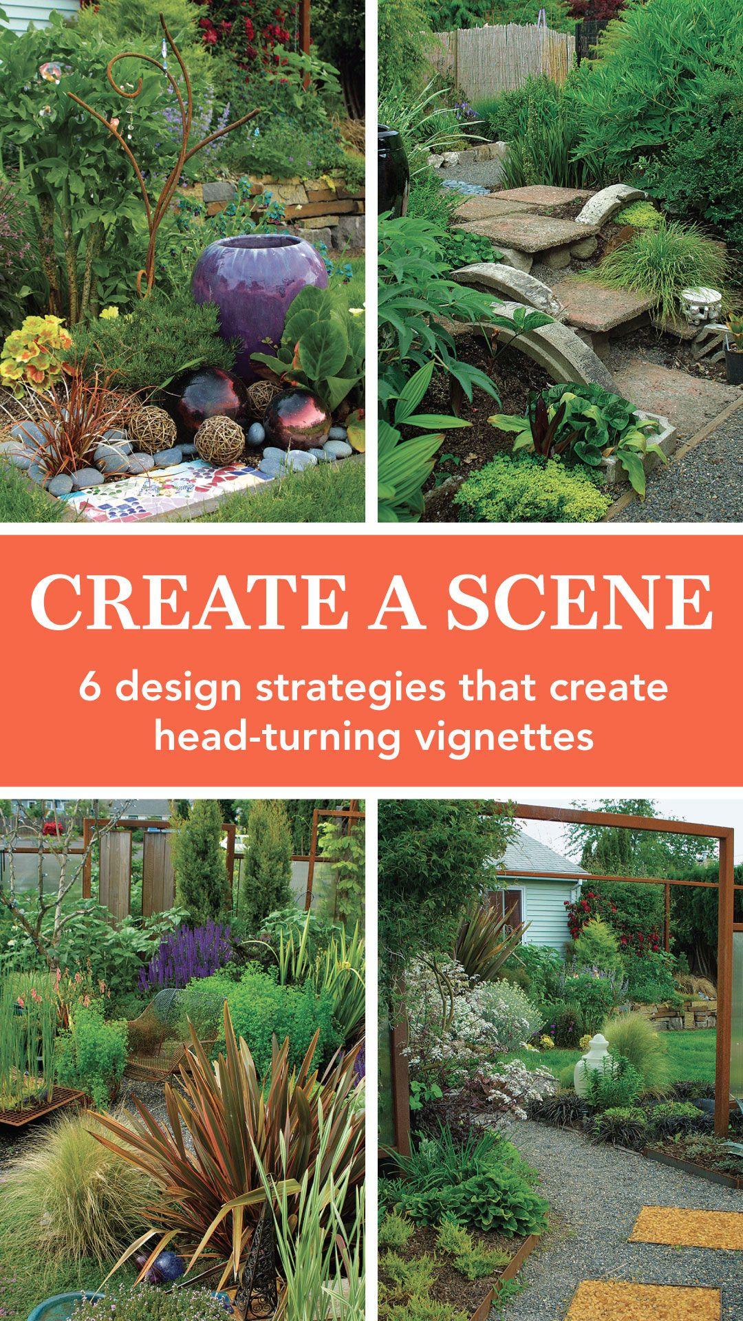 Creating A Scene Finegardening Garden Yard Ideas Garden Styles Backyard Landscaping