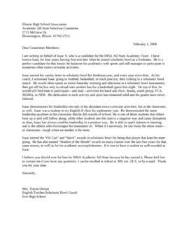 letter of recommendation for scholarship from teacher Letters of Recommendation for College, Scholarships, Awards ...