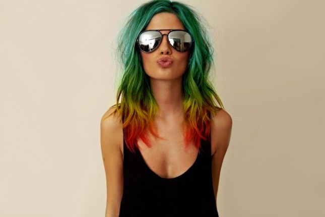 We brought you pretty pastel hair inspiration and amazing purple lock looks, but today, we're presenting you with 24 stunning colorful hairstyles that will make you go ga-ga for ROYGBIV 'dos!