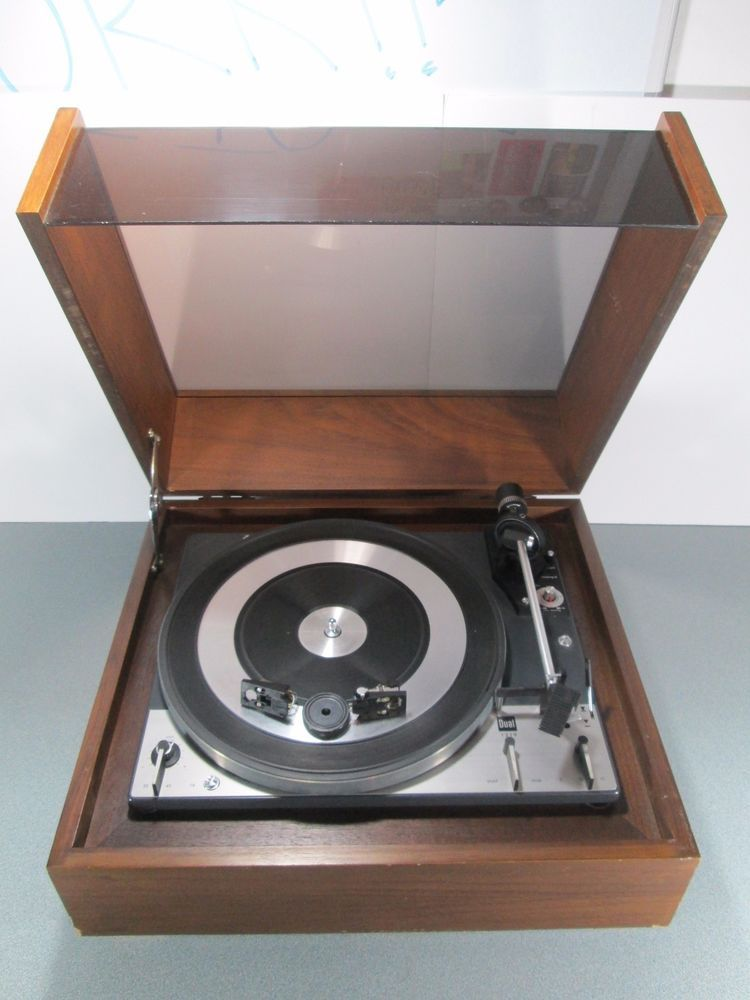 Dual 1219 Turntable Cabinet Style Dust Cover Record Player