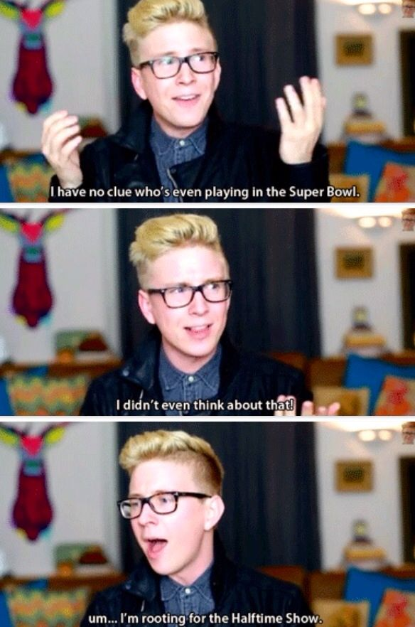 Lol haha funny pics / pictures / @Tyler Oakley / SO ME / Super Bowl
