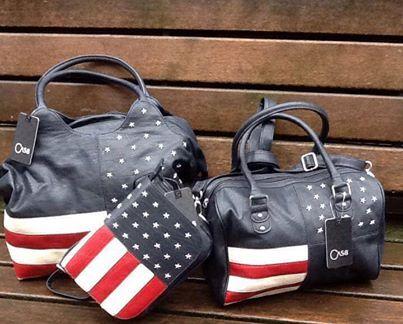 Plaid Amerikaanse Vlag.Van De Week Binnengekomen Een Serie Van Drie Tassen Met De