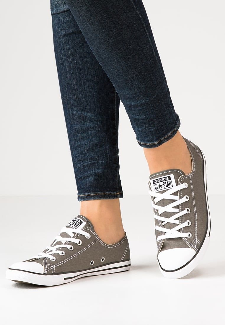 3914b8e29bb64 Converse CHUCK TAYLOR ALL STAR OX DAINTY - Baskets basses - gris foncé    blanc - ZALANDO.BE