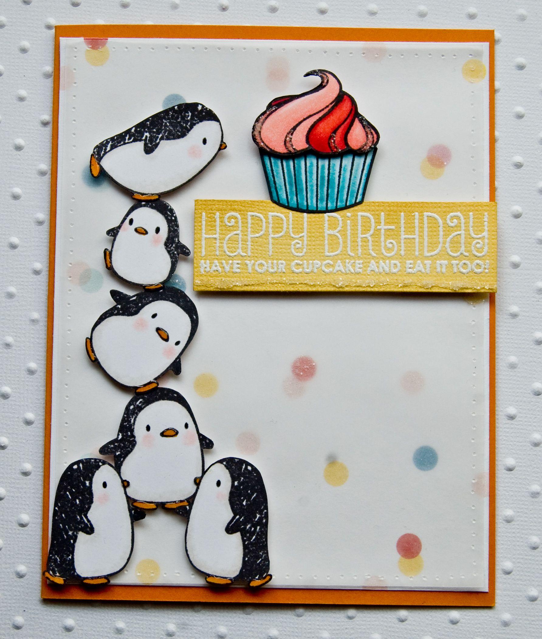 Внутри открытки, пингвины на открытку