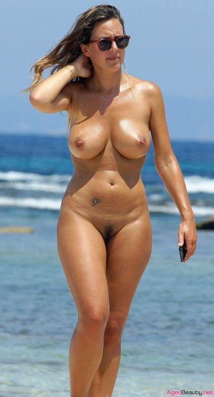 Nude milf at beach