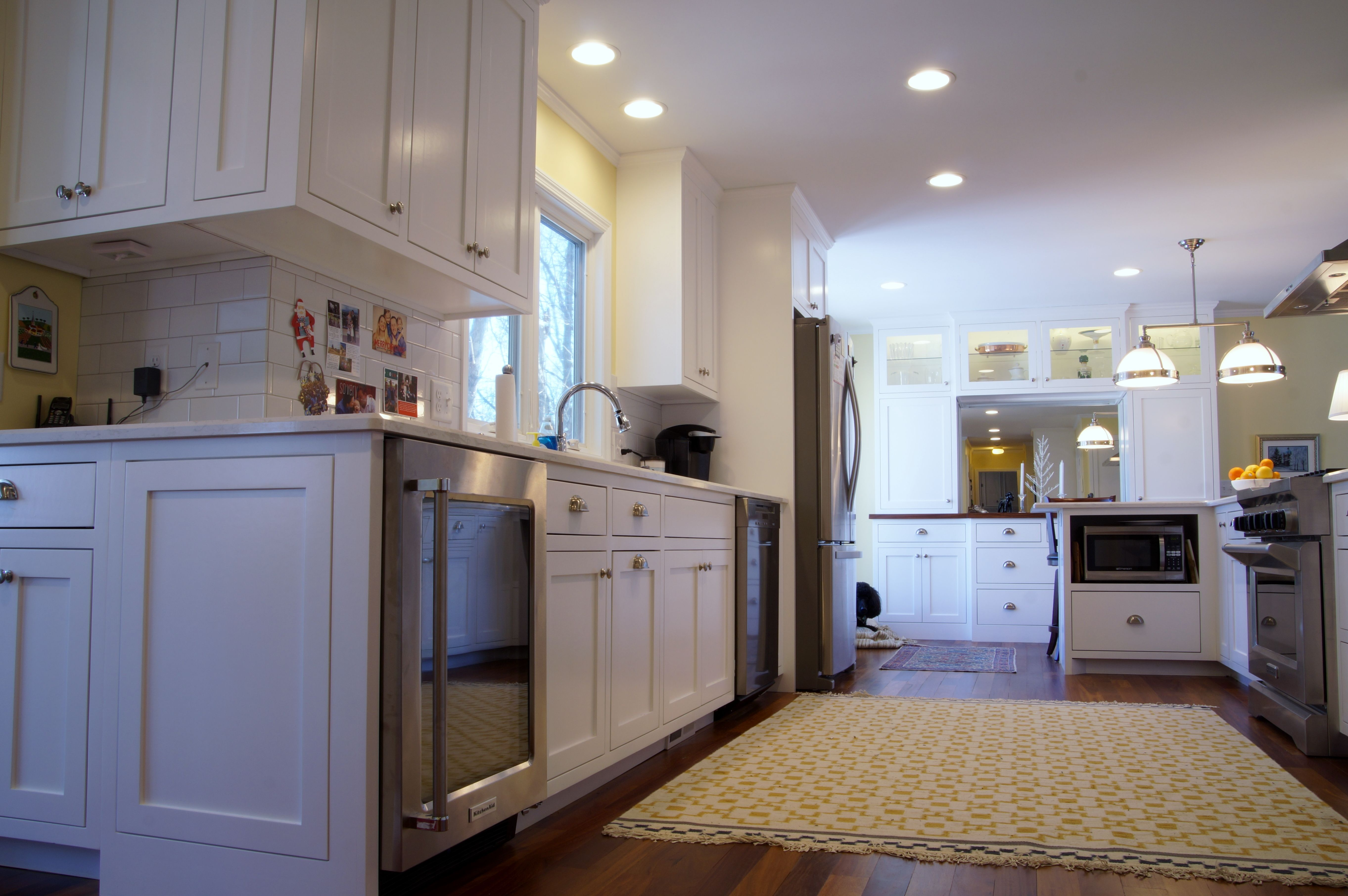 Updates to this Twin Cites kitchen included stainless steel