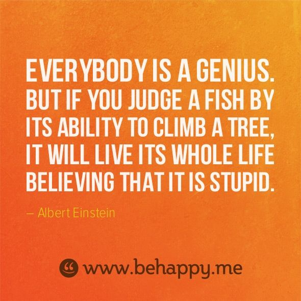 Everybody Is A Genius But If You Judge A Fish By It S Ability To