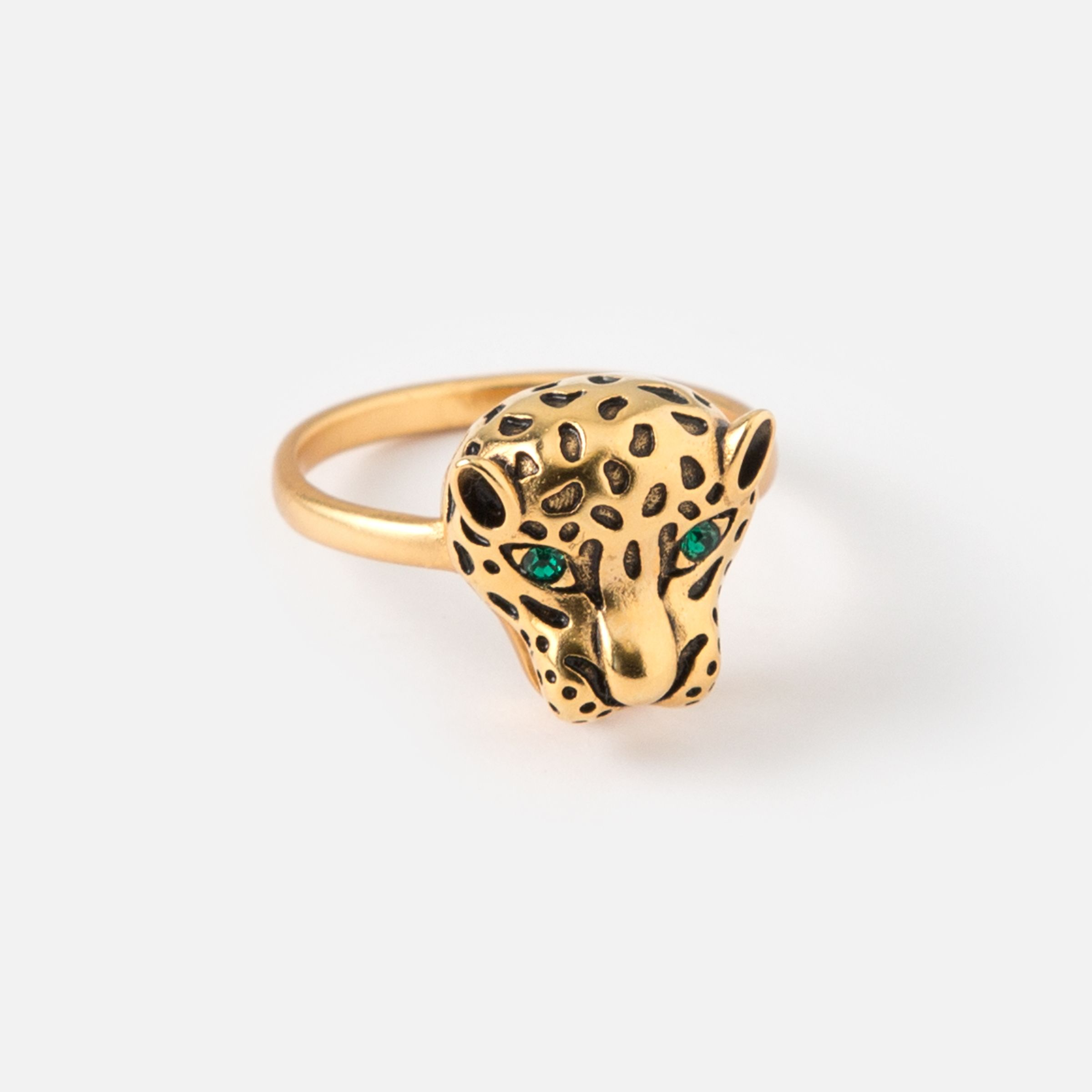 Panther Head Ring SM New In Beautiful Costume Jewellery from