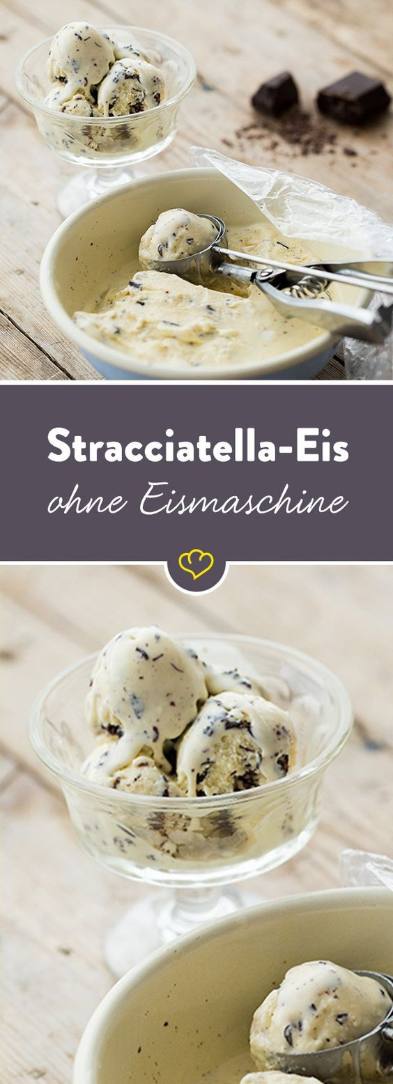 stracciatella eis selber machen ohne eismaschine recipe dessert getraenke marmeladen. Black Bedroom Furniture Sets. Home Design Ideas