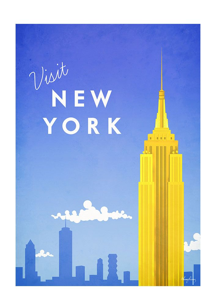 Henry Rivers Visit New York Art-Poster