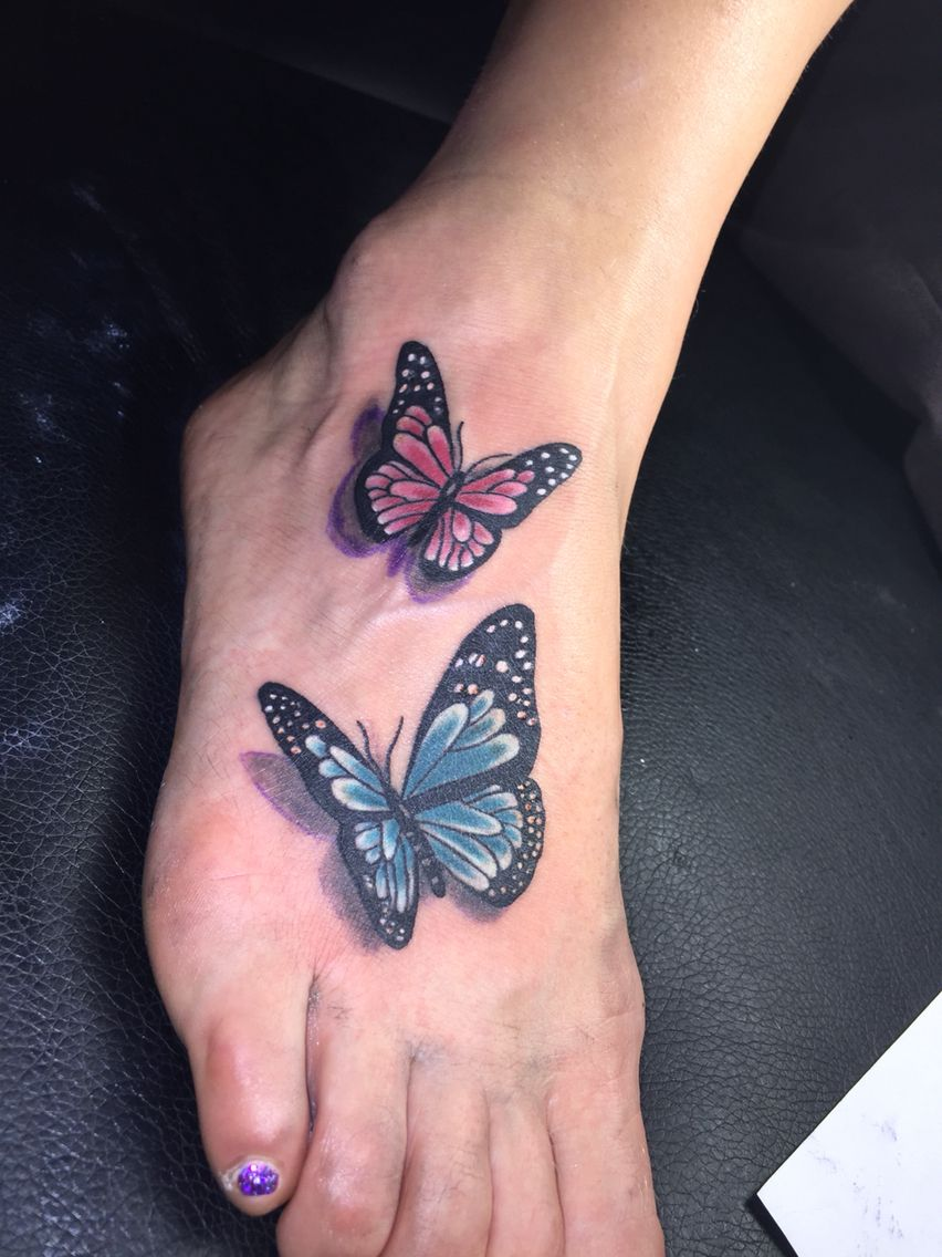 Butterfly tattoo 3D