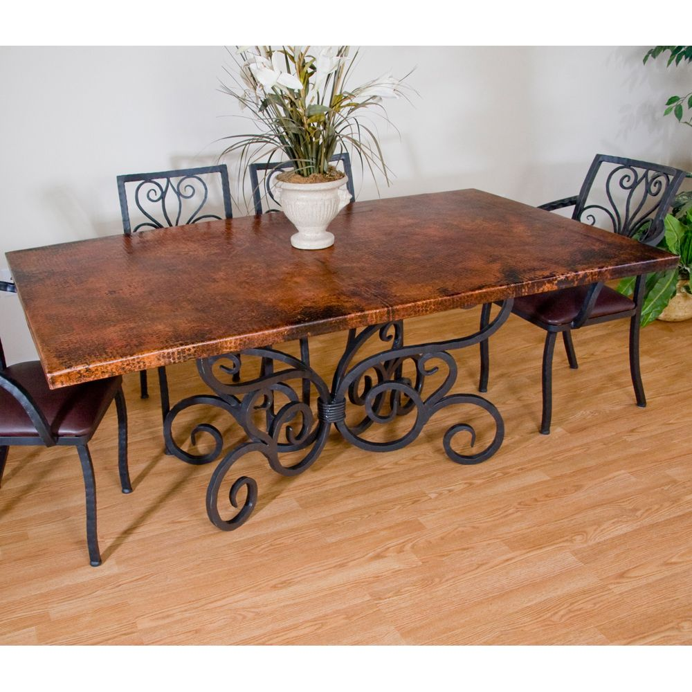 Alexander Rectangular Copper Dining Table By Mathews Co