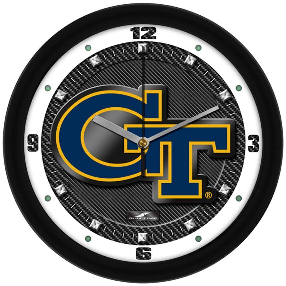 Georgia Tech Yellowjackets NCAA Carbon Fiber Textured Wall Clock