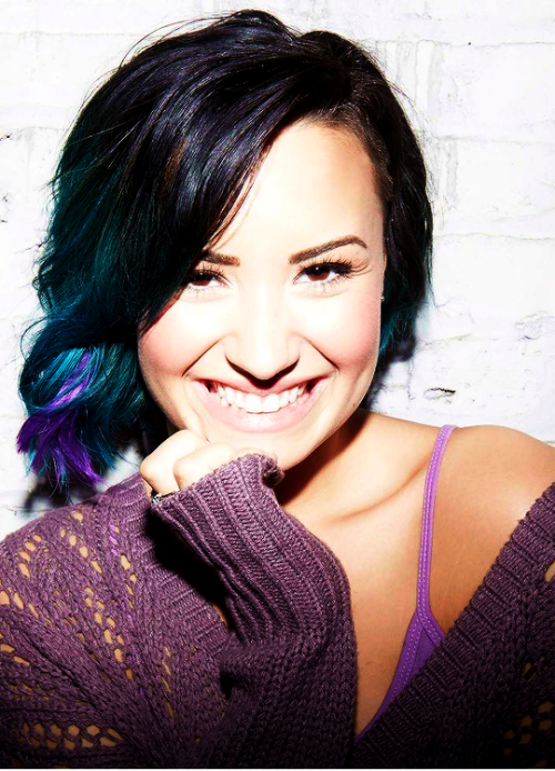 Demi Lovato For Secret Color Hair Extension Bands And Singers I