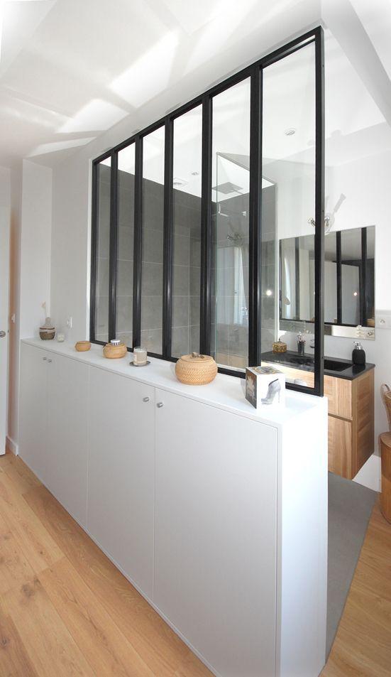 Des Combles Et Une Terrasse Entree Salle De Bains Verriere Deco Entree Maison Et Verriere Entree