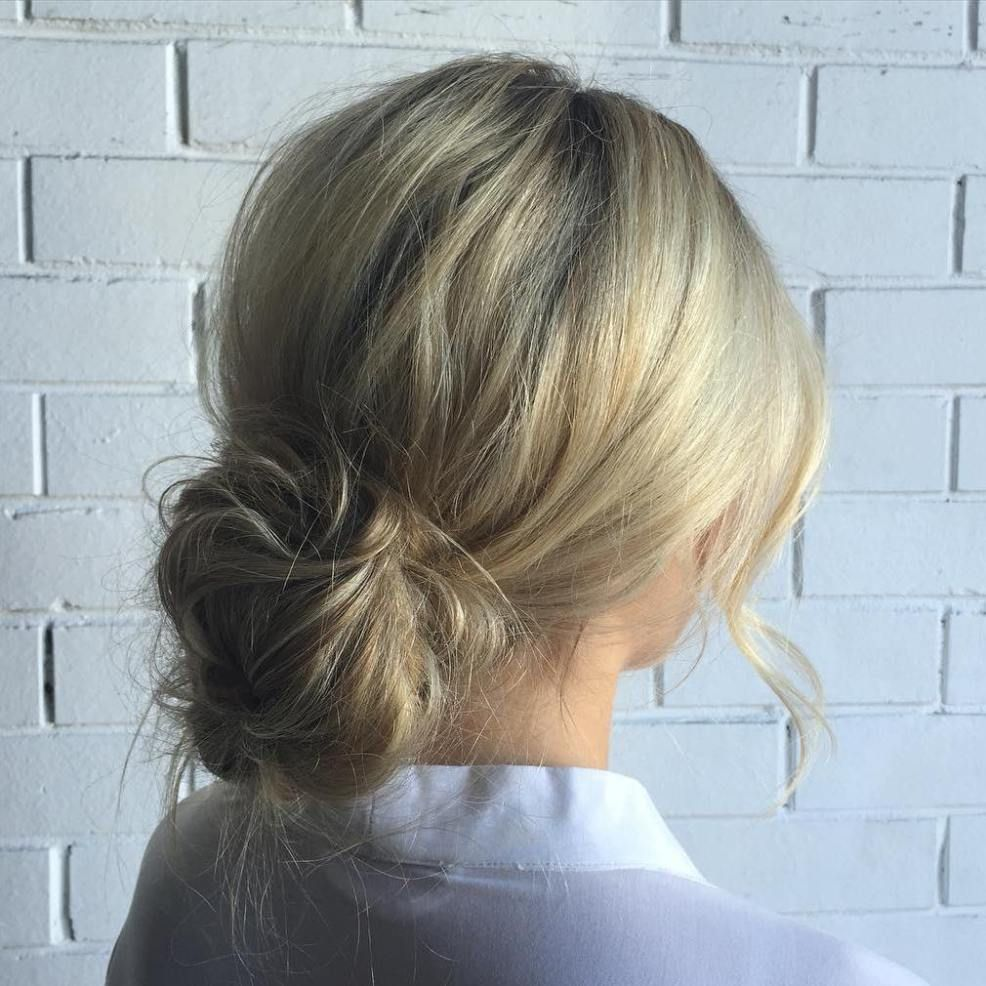20 Inspiration Low Bun Hairstyles For Wedding 2019 2020: Short Hair Bun, Messy Hairstyles, Low