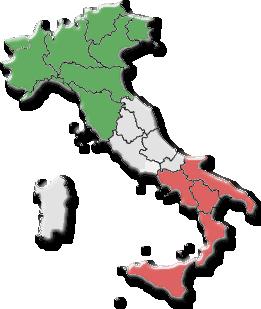 italien regionen provinzen karte