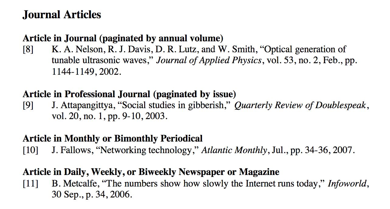 Ieee At For Research Paper Citation Guides Novices