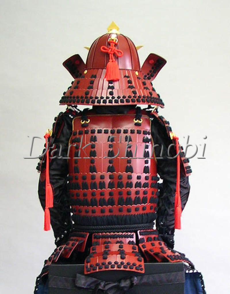 f2a2ec2d1c Armadura Samurai Yoroi- Red / Black Armor - Escala Real 1:1 - R$ 3.599,00  no MercadoLivre