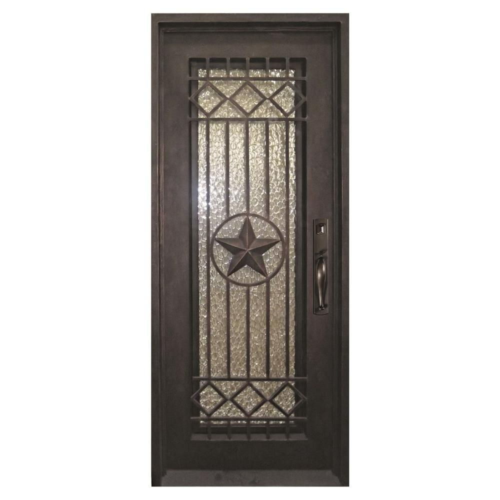 Iron Doors Unlimited 40 in. x 98 in. Texas Star Classic Full Lite Painted  sc 1 st  Pinterest & Iron Doors Unlimited 40 in. x 98 in. Texas Star Classic Full Lite ...
