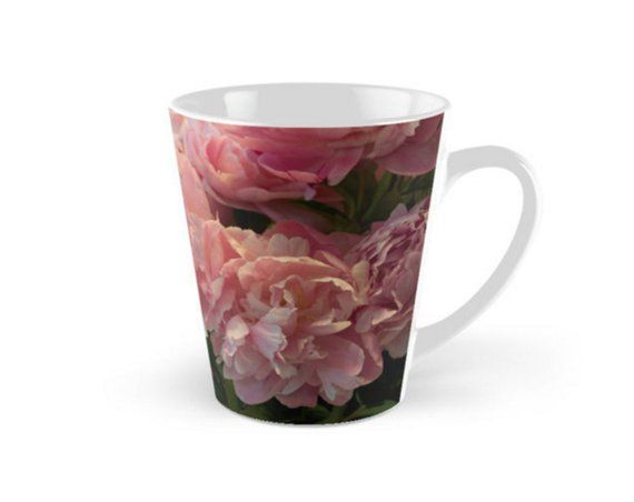 Pink Peony Mug ~ Floral Gift for Gardener ~ Flower Photo Mug, Gift for Her, Pink Tea Cup, Peony Coffee Mug, Floral Drinkware, Black Mug - #Coffee #floral #flower #gardener #peony #photo - #Millie'sPhotoMug #teamugs
