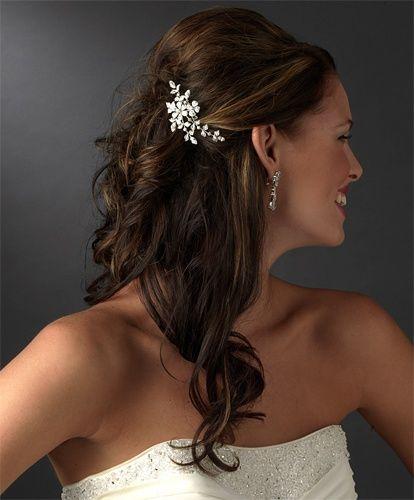 Bridal Headpiece, floral bridal comb wedding-ideas