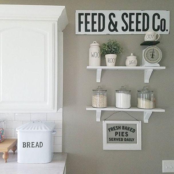 Farmhouse Kitchen Paint Color 'Intellectual Gray By