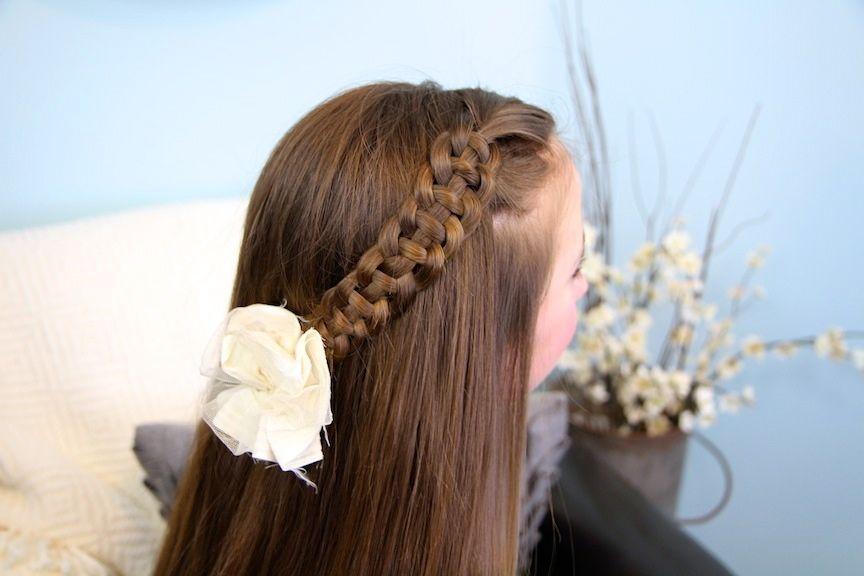 5 Minute Hairstyles Braids: 4-Strand Slide Up Braid