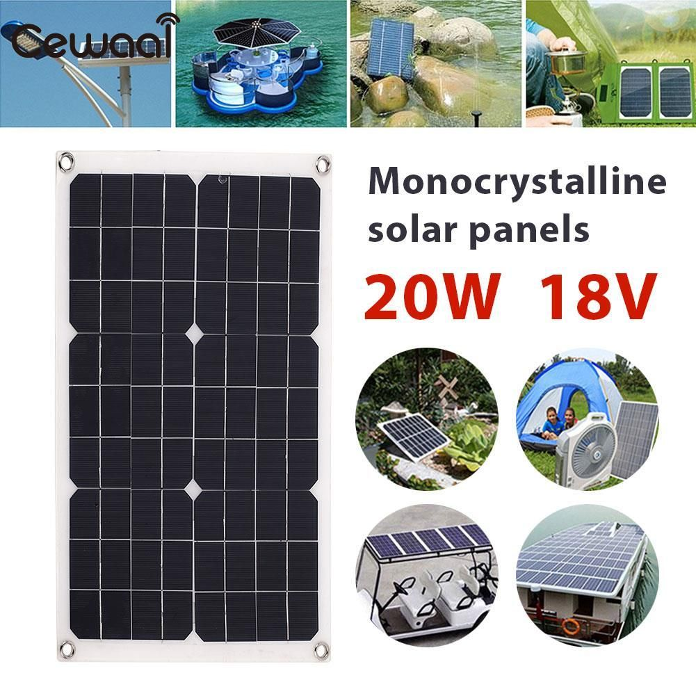 Cheap Price Outdoor Solar Panel 20w 18v Emergency Power Supply Portable Solar Charging Solar Generator Usb Dc Port Car Battery Chargiing With Images Solar Panels Solar Generator Solar