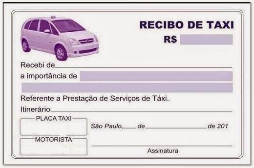 Resultado De Imagem Para Recibo Taxi Download Recibo Taxi Y Uber