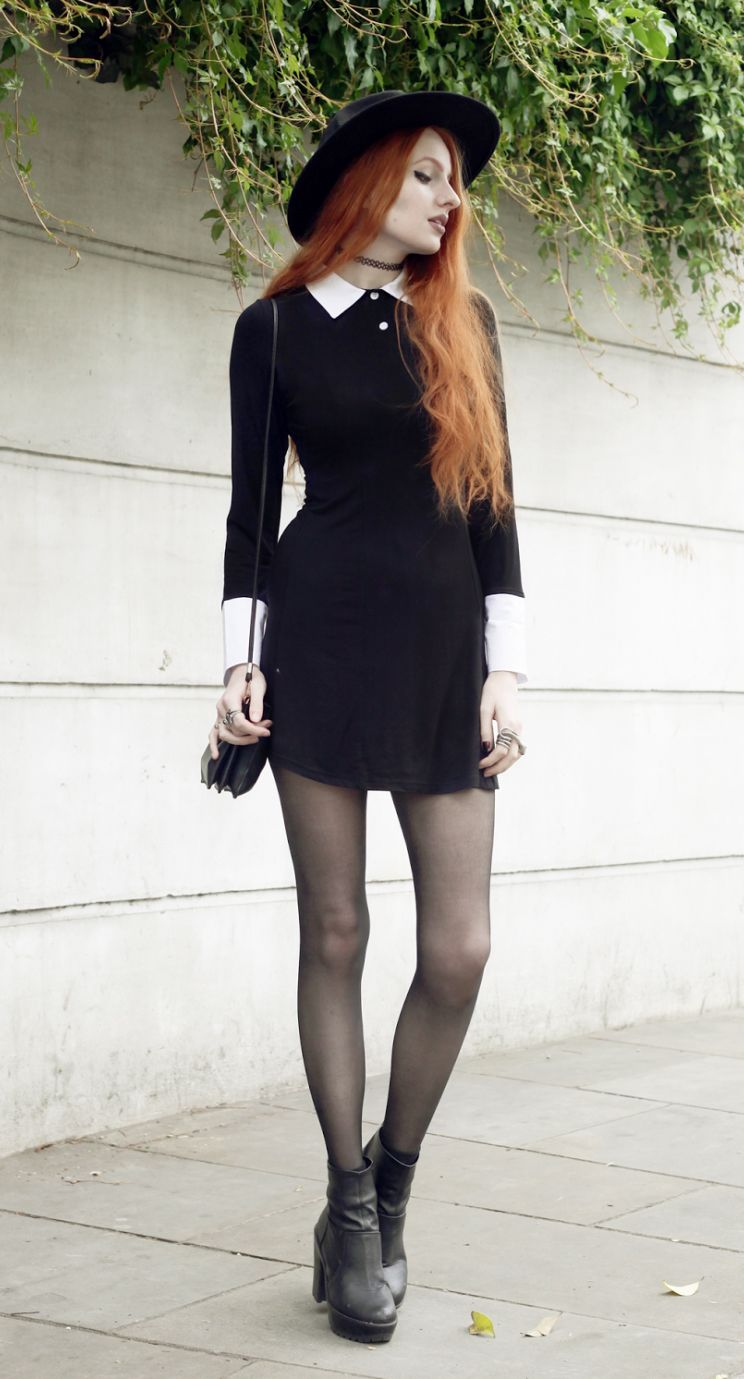 Black dresses with boots pictures