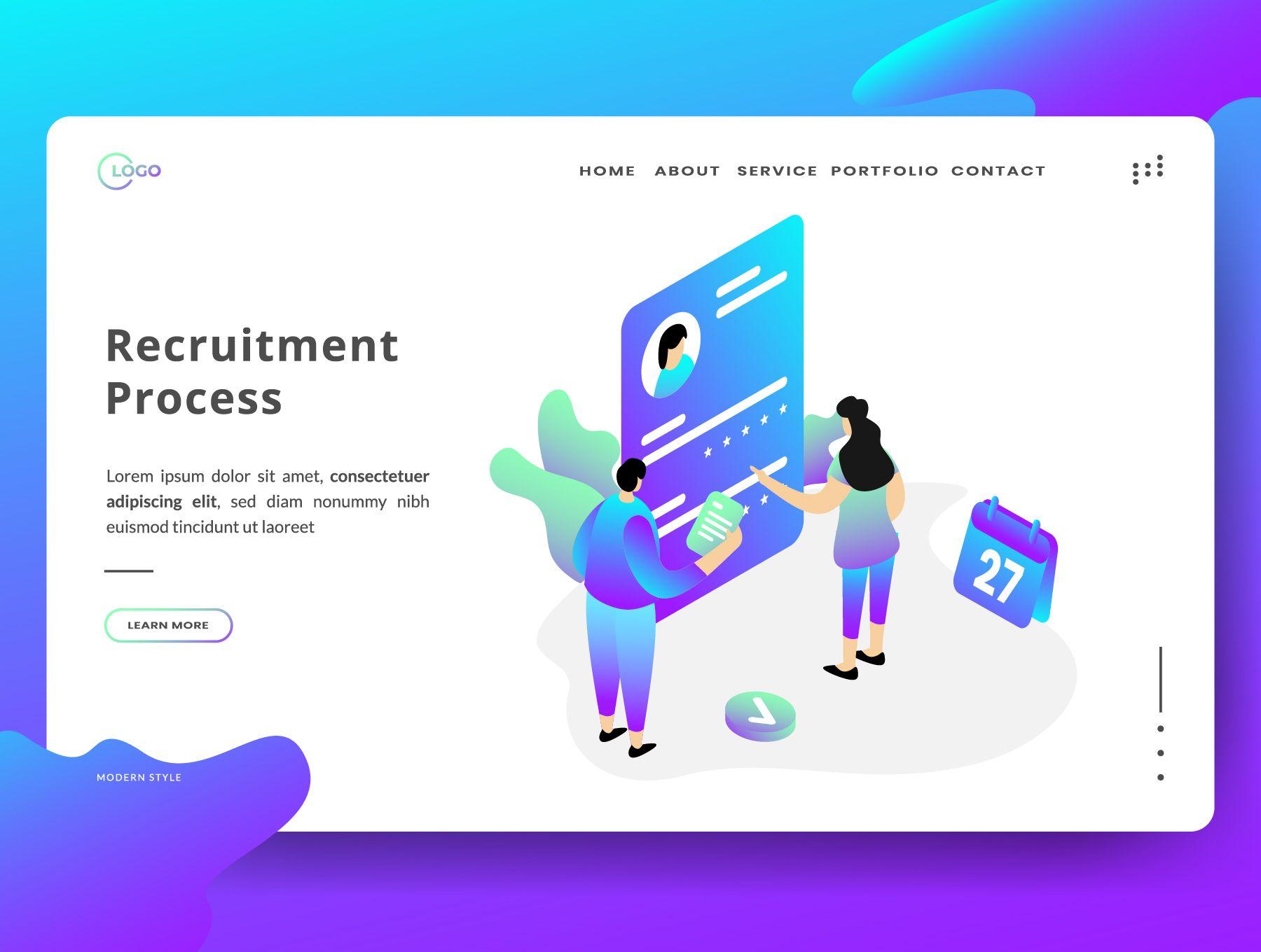 Recruitment Process Recruitment Process Paid Recruitment Sponsored Process In 2020 Recruitment Design Freebie Resource Management