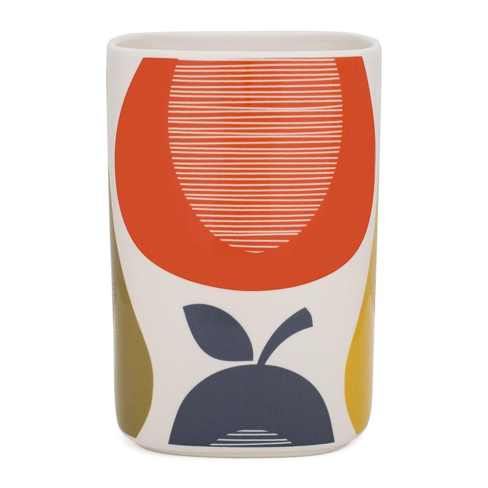 Discover The Orla Kiely Pear Utensil Pot At Amara Mid