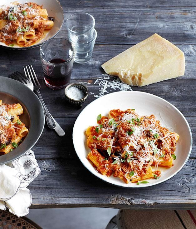Photo of Rigatoni with braised pork, tomato and olives