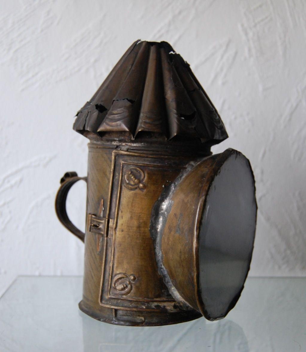 18th Century Brass Candle Lantern Lampiao Antigo Lampiao Compras