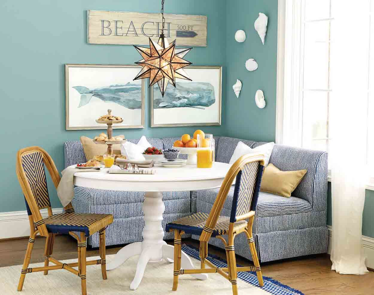 Dining Rooms | Banquettes, Coastal and Personality