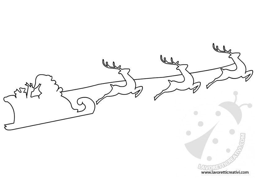 Slitta Di Babbo Natale Fai Da Te.Risultati Immagini Per Disegno Slitta Di Babbo Natale Addobbi