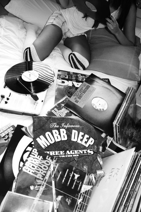 THE DOPE $OCIETY®  #1 Source for Hip Hop instrumentals and HQ Mixed and Mastered Beats @ www.thedopesociety.com  |  Follow me @ https://the-dope-society.tumblr.com | hip hop, turn table, girl, knee high sox, mobs deep, M.O.P., Craig Mack, Group Home, vinyl, records,