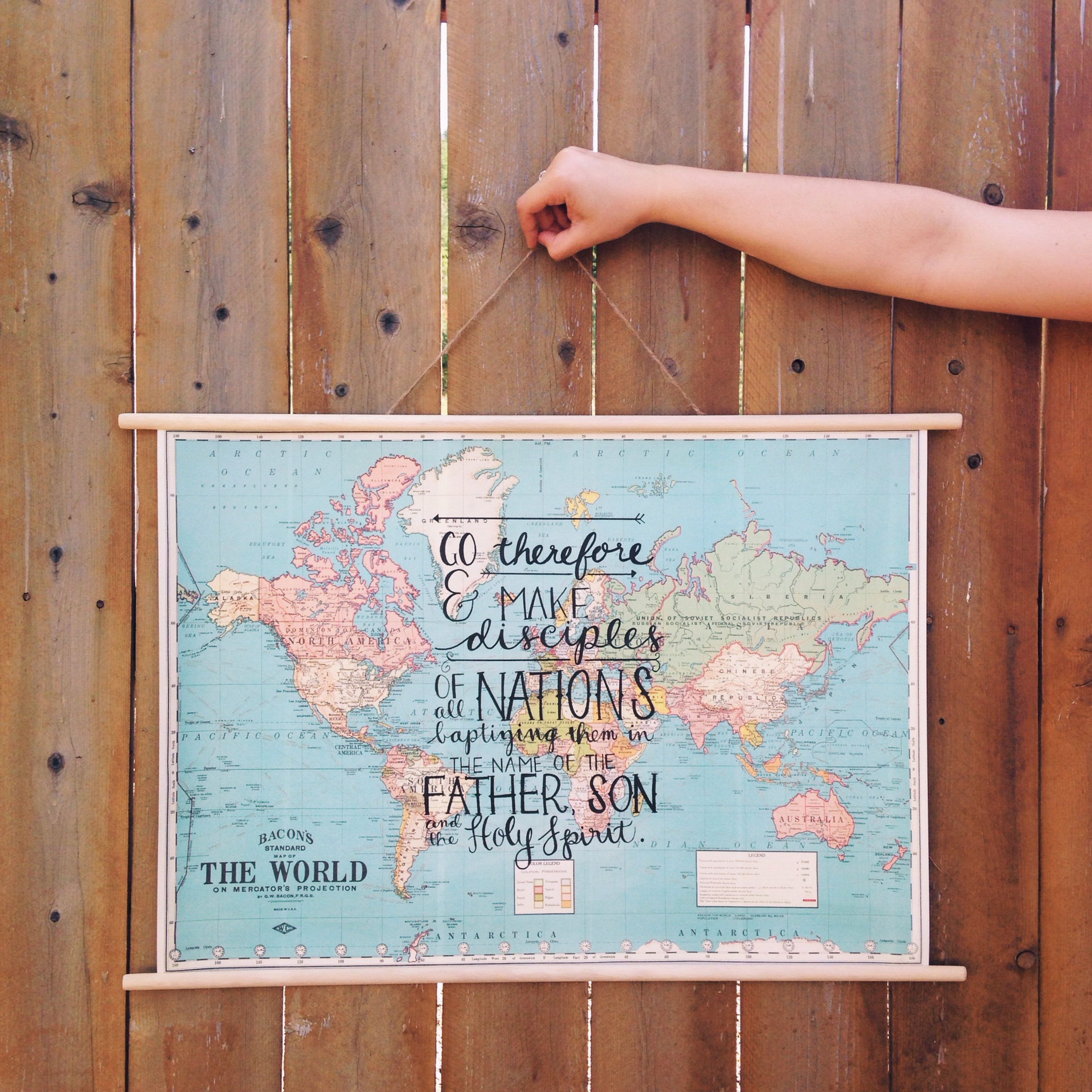 Matthew 28:19-20 // hand lettered on a map // Victoria Kesoma | you on discipleship map, contact us map, great commission map, science map, voice of the martyrs map, bangued abra map, buddhism map, ntw map, team map, ihop map,