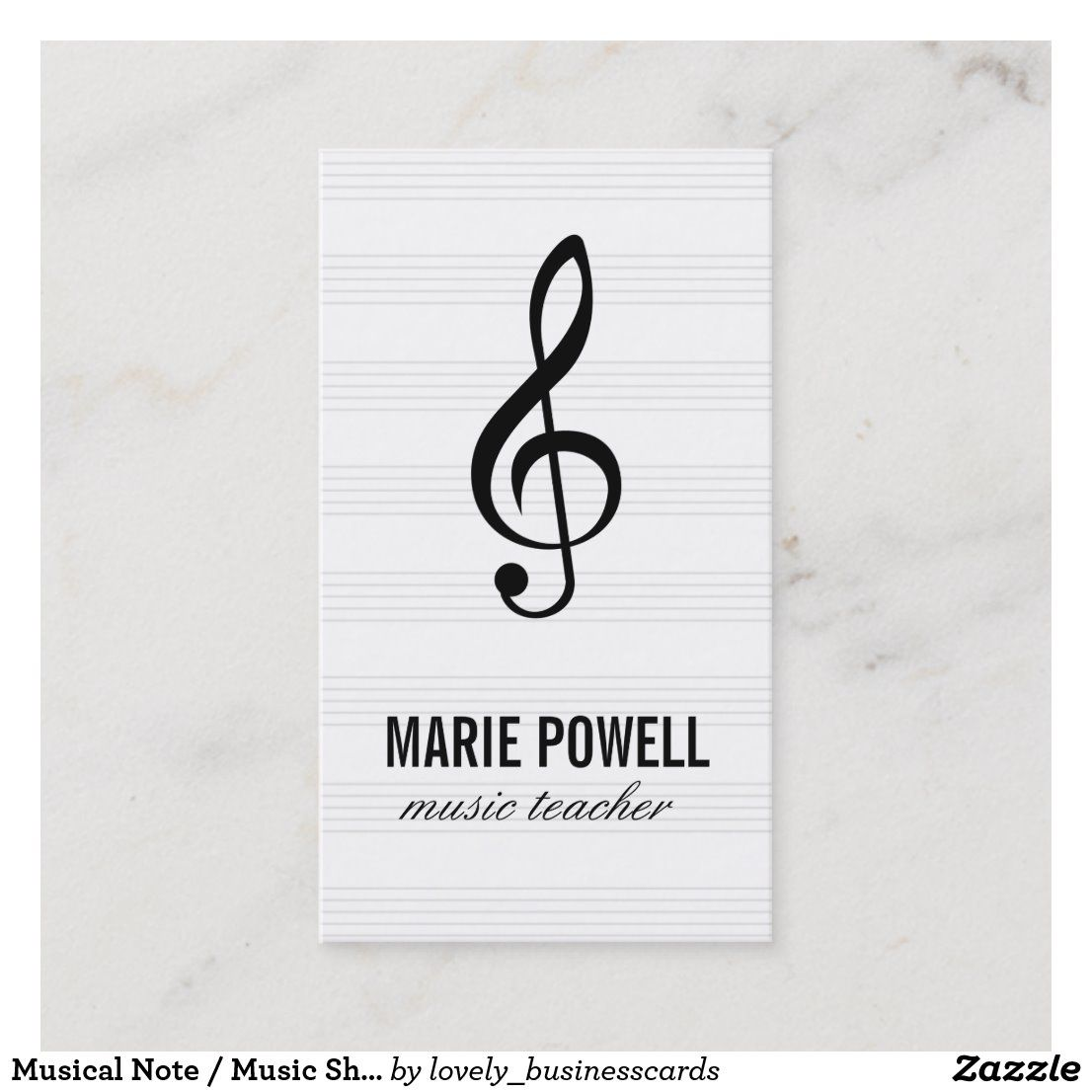 Musical Note / Music Sheet Business Card   Zazzle.com in ...