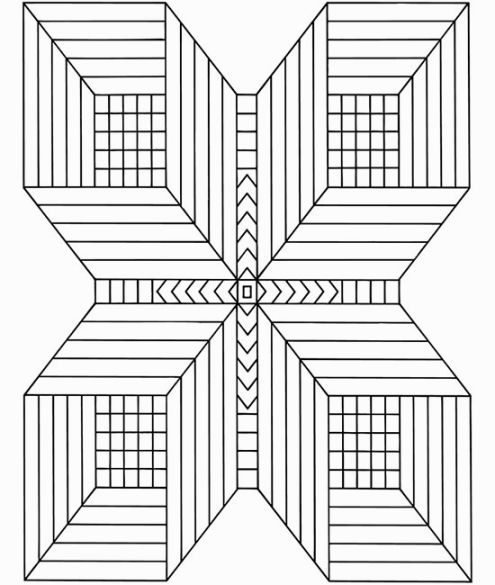 3d Coloring Pictures Geometric Coloring Pages Coloring