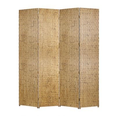 "Screen Gems 87"" x 84"" Gilded Screen 4 Panel Room Divider"