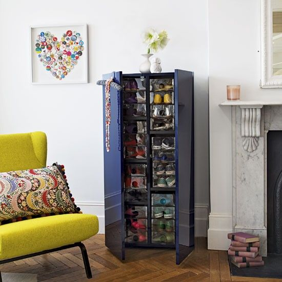 Make Sure Your Shoes Are Easy To Find By Colour Coding Collection Clear Storage
