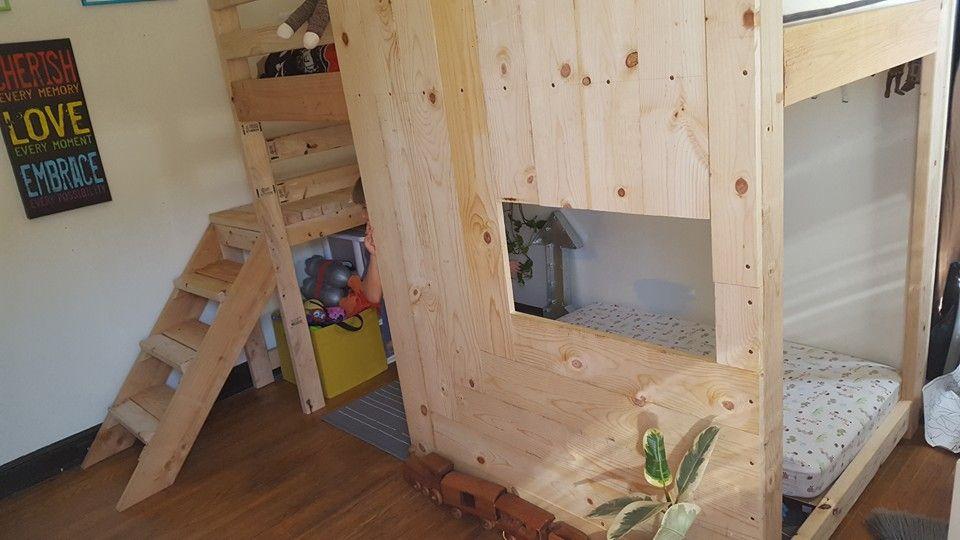diy loft twin bed