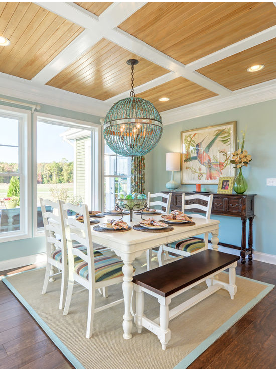 Love The Ceiling Planks And The Coastal Feel Of This Dining Room Adorable Coastal Dining Room Furniture Design Ideas