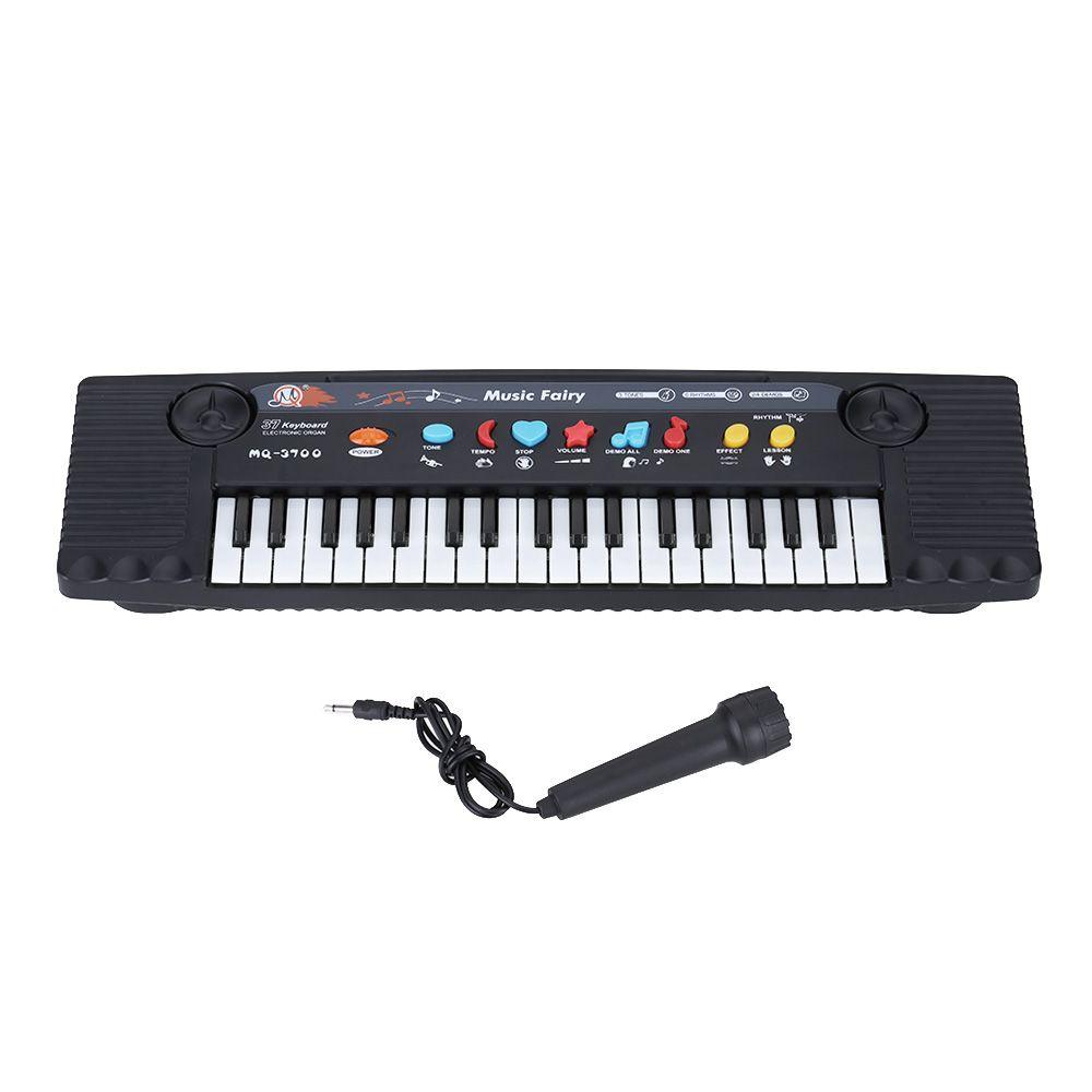 Mini 37 Key Electone Keyboard Musical Kids Baby Play Piano Educational Toy MiC