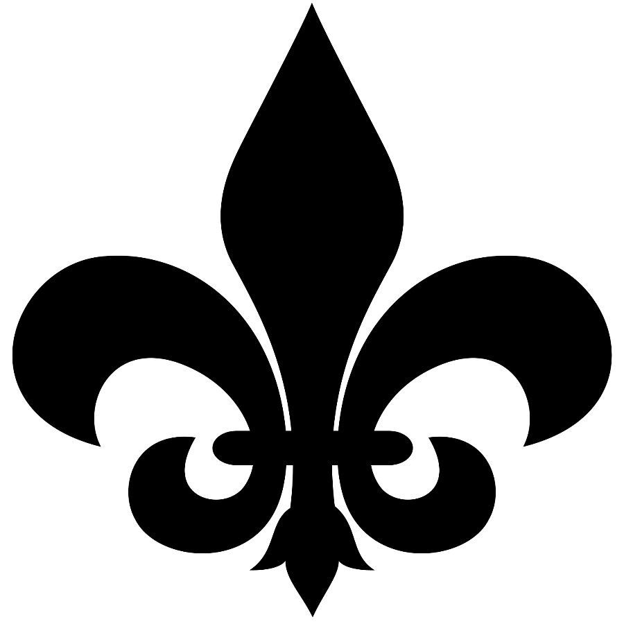decals or stickers vinyl cut.2 X 2 in New Orleans,French Lot of 8 Fleur De Lis
