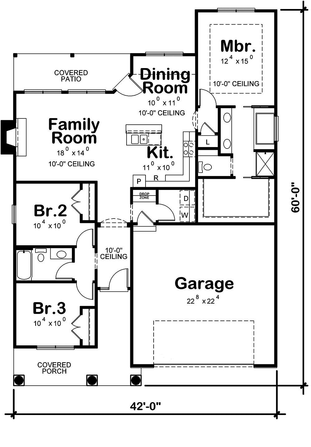 1452 Sq Ft Plan Collection Plan 120 2552 Craftsman Style House Plans Cottage Floor Plans Ranch House Plans