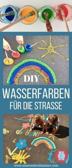 DIY: Wasserfarben für Straßenmalerei selber machen #zuhausediy
